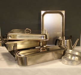 Chafing Dish & Other Stainless Steel Equipment