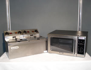 Double Fryer & Microwave
