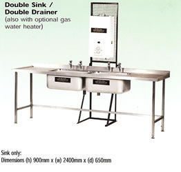Double Sink Drainer